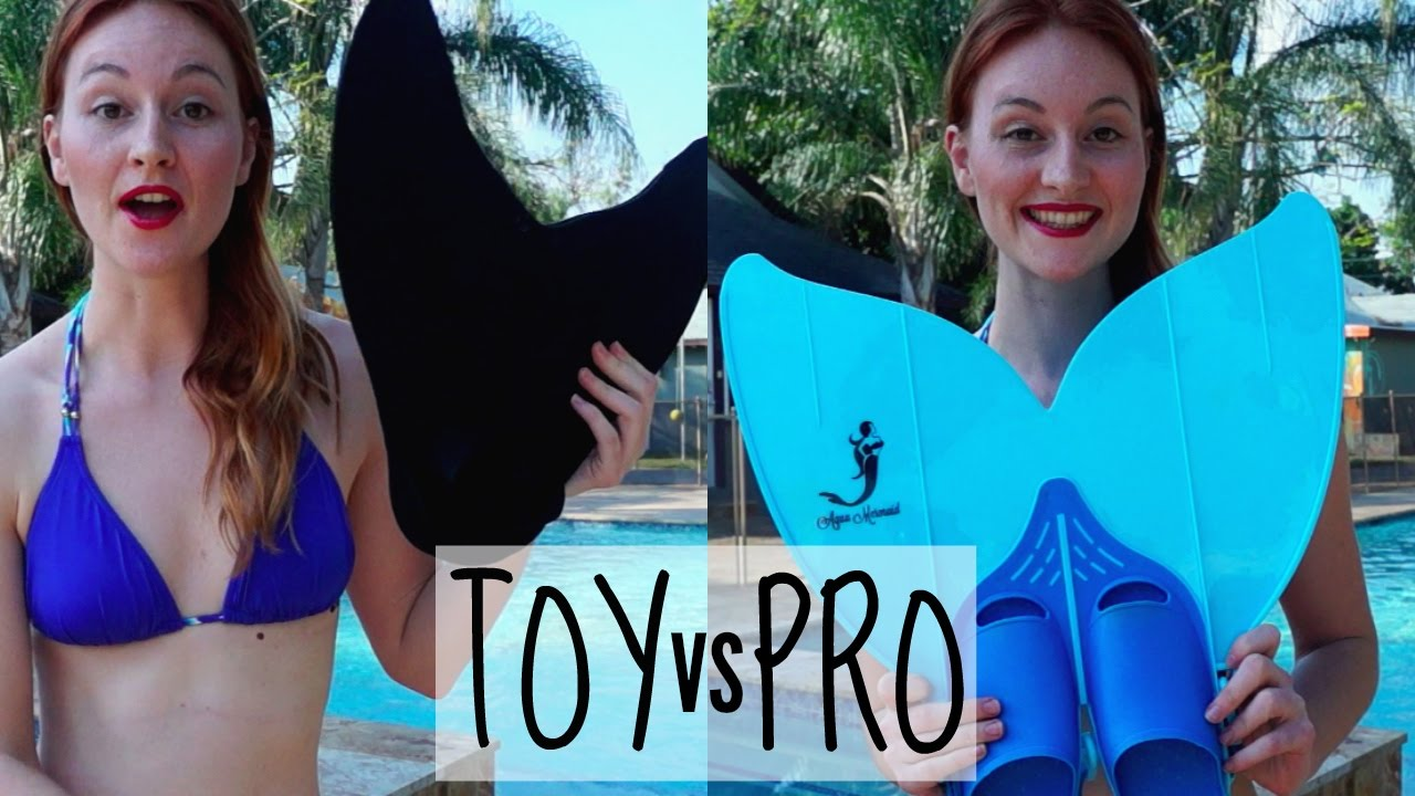 Mermaid Tails Comparison - Toy vs Professional Monofin - YouTube 9f1965e71d00