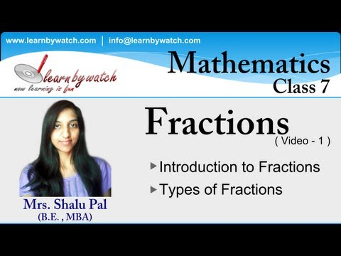 Fractions and Types of Fractions - Mathematics for Class-7 ( Hindi / Urdu )
