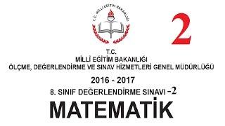 Meb 8. sınıf Matematik Denemesi 2