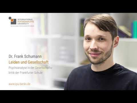 Dr. Frank Schumann - Leiden und Gesellschaft | IPU Berlin