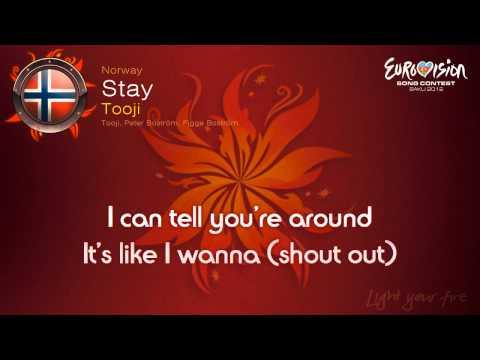 """Tooji - """"Stay"""" (Norway) - [Karaoke version]"""
