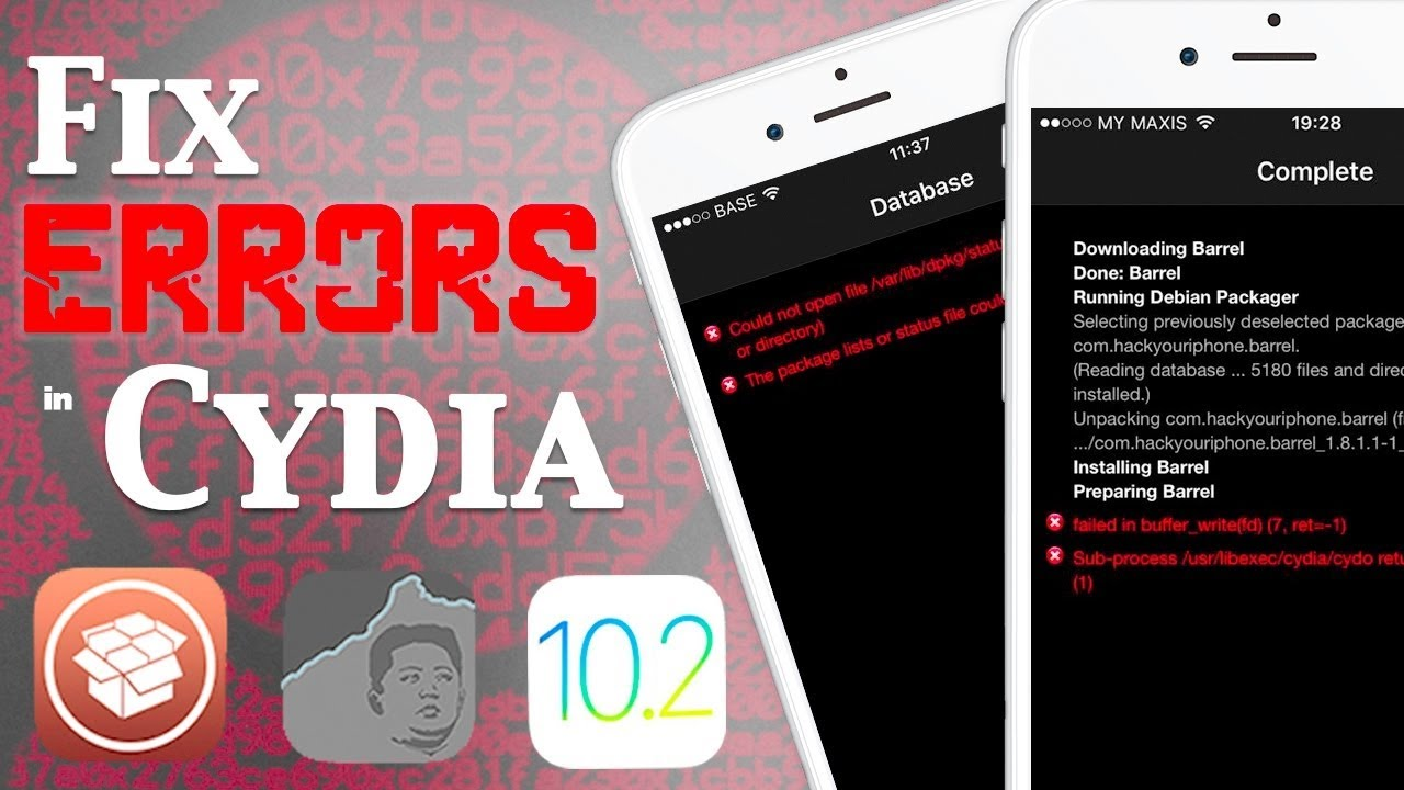 How To Fix Cydia Error Code 1 /usr/libexec/cydia/cydo returned an error  code (1) by Darshan iOS Master