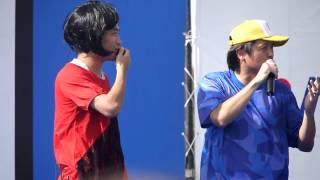 遠藤さんとの謎のコントで片桐はいりの仮装を見せたあと、たむけんさん...