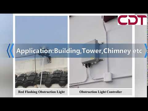 CK-16 ICAO Certified FAA L864 Medium Intensity Aviation Obstruction Beacon,2000cd,Red Flash,20FPM.