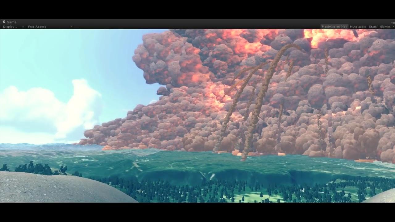 Symulacja Wybuchu Superwulkanu Yellowstone