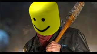 the walking dead season 7 but every time negan hits someone with his bat its the roblox death sound