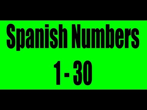Spanish Numbers 1-30