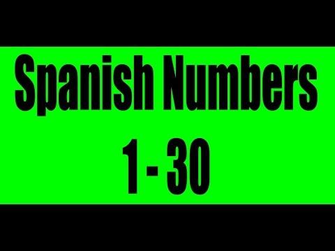 Spanish Numbers 1-30 - YouTube