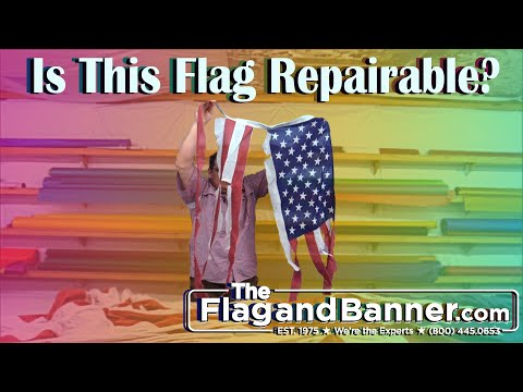 How To Know If Your US Flag Is Repairable