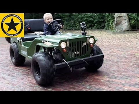 Children Jeep 3 Year Old Boy Drives Gasoline Powered Jeep