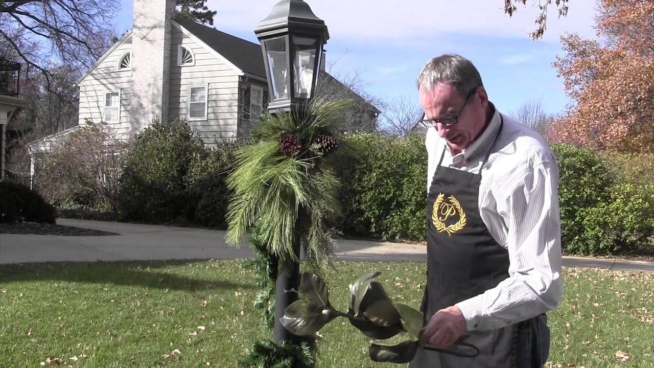 decorating with david how to decorate a lamp post youtube - Light Post Christmas Decorations