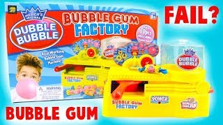 Double Bubble Maker- Bubble Gum Factory Toy Review Fail!
