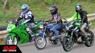 Pulsar NS200 vs Yamaha RX vs Ninja 250 | Final 16 seg. 2 válida de motos piques 1/4 de Barranquilla