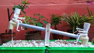 Garden see-saw water feature fountain | How to make Water-fueled se...