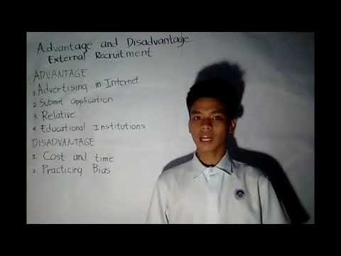 Lesson 2.3 - Advantage And Disadvantage Of External Recruitment
