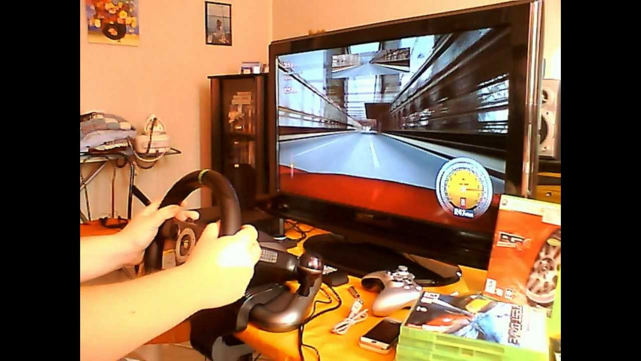test nouveau volant racing wheel de madcatz pour xbox 360 fr youtube. Black Bedroom Furniture Sets. Home Design Ideas