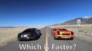 DRAG RACING my Lamborghini vs. my Audi R8