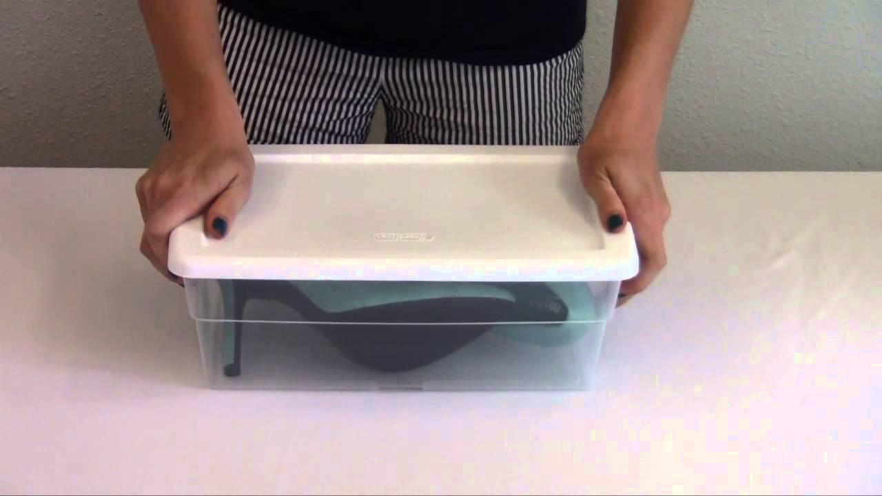 Sterilite 6 qt shoebox YouTube
