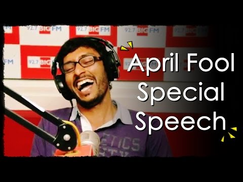 R.J. பாலாஜி - April Fool Special Speech - Balaji