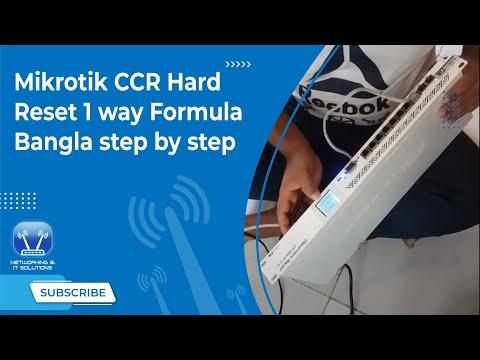 Mikrotik CCR Hard Reset 1 way Formula ,,Bangla step by step