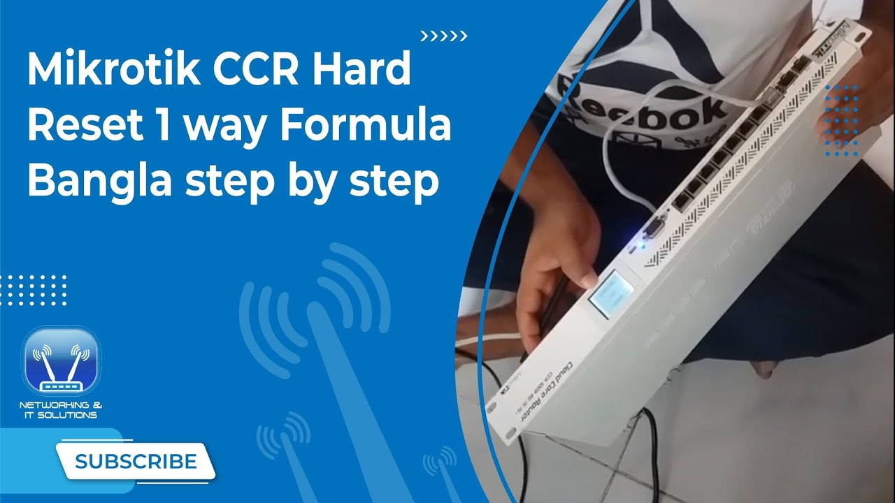 Mikrotik CCR Hard Reset 1 way Formula ,,Bangla step by step by Networking &  IT Solutions Video Tutorial