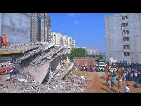 شاهد: مصرع شخصين في انهيار مبنى بنيودلهي  - نشر قبل 38 دقيقة