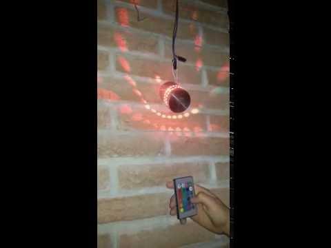 Lampada da parete a led con telecomando youtube