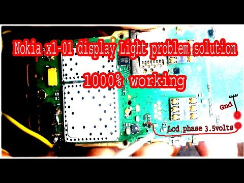 Nokia x1-01 display Lighting problem solution in 10000% working