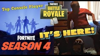 FORTNITE SEASON 4 IS HERE! ALL NEW BATTLE PASS ITEMS AND SKINS! METEOR LANDED! (PS4 Livestream)