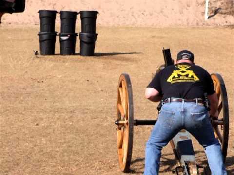 Firing a Hotchkiss Revolving Cannon by AdeQ Firearms Company