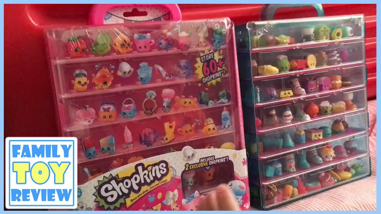 Shopkins Display Case Pink Color Collection