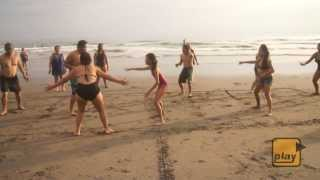 Patintero by the Beach