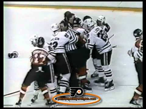 Mar 27, 1985 Line Brawl Philadelphia Flyers vs Chicago Blackhawks