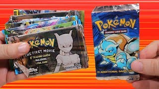 Opening a Bunch of Old Pokemon Booster Packs