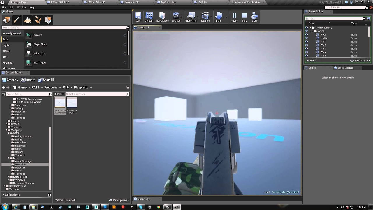 how to make a crosshair overlay in ue4