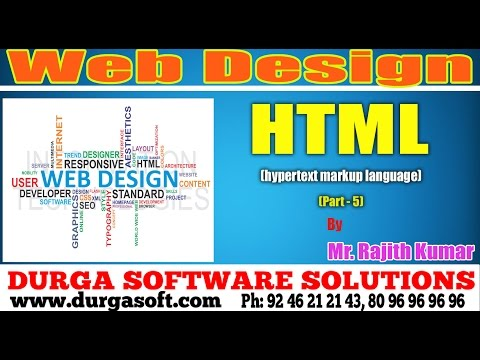 Web Design | Html (Hypetext markup Language) Part - 5 by Ran