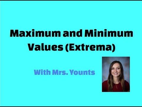 Maximum and Minimum Values (Extrema)
