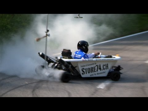 Watch This Hero Drive a Bathtub In a Hillclimb Race