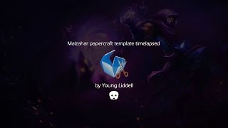 LoL Malzahar papercraft template timelapsed | Pepakura designer 3