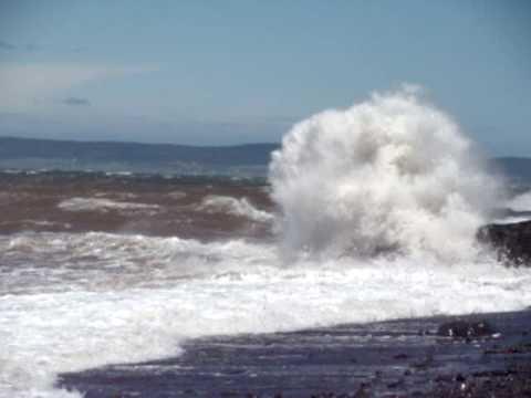 Crashing Waves Of The Bay Of Fundy, Nova Scotia