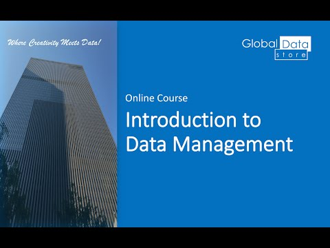 Introduction to Data Management (Online Course - Preview)