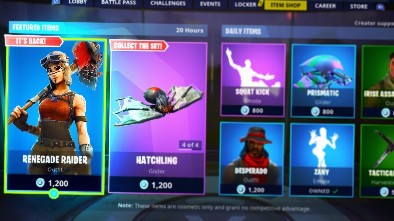 Buying The Renegade Raider Rare Skin In The Item Shop Fortnite