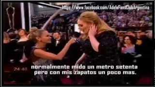 Entrevista a Adele en la alfombra roja OSCARS 2013 (subtitulado)