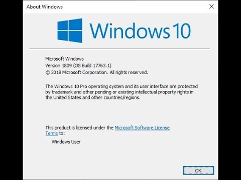 Installing the new Windows 10 1809 build 17763 1 in REAL TIME
