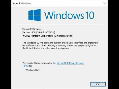manual download of windows 10 1809