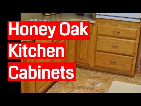 honey oak kitchen cabinets