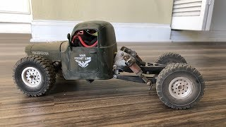 WPL C24 with JJRC Q60 body and long travel suspension from Axial Yeti Score Jr.