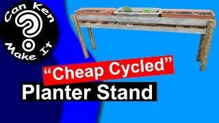 Make A Rustic Planter Stand From A Fence Damaged By A Car - Crash To Treasure