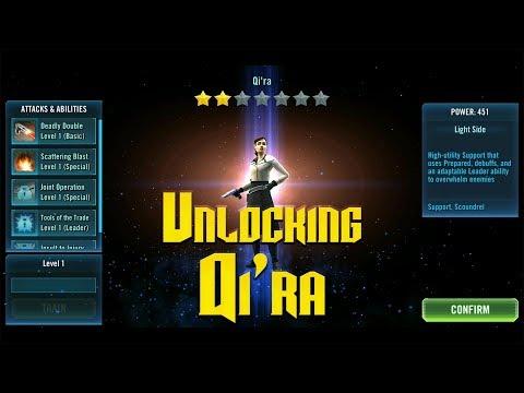 Unlocking Qi'ra! -Star Wars Galaxy of Heroes Gameplay