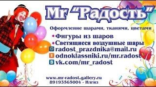 Композиция из воздушных шаров кот Том от Mr Радость / tom cat balloon